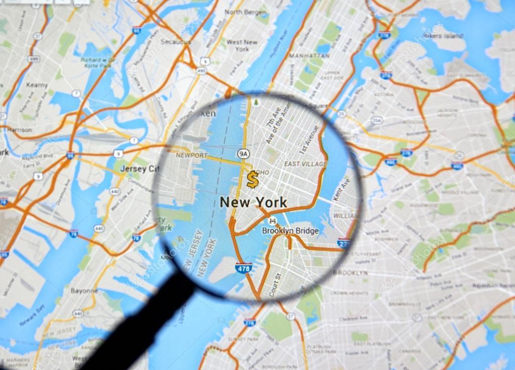 New York On Map Stock Editorial Photo C Dennizn 100967862