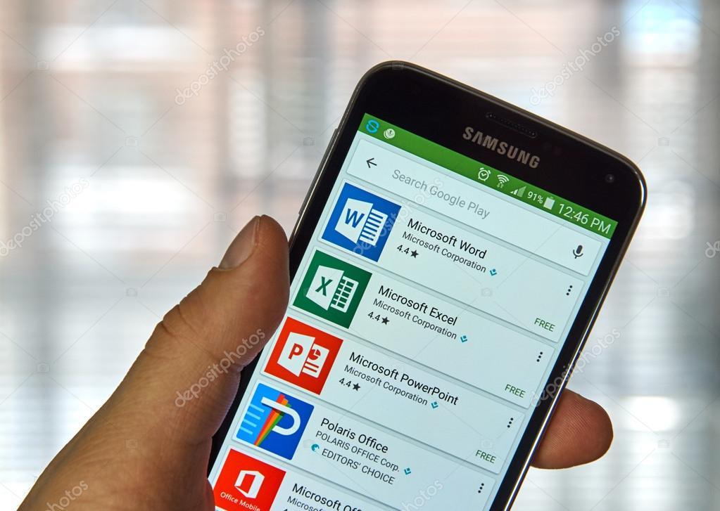 Aplicativo do Microsoft Office — Fotografia de Stock Editorial