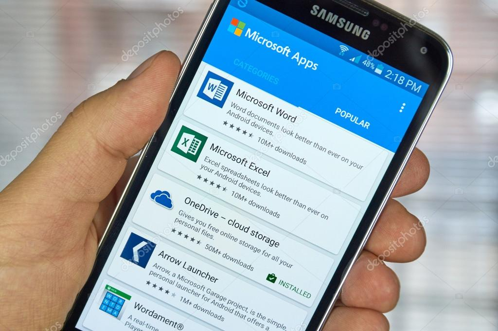 Microsoft Office mobile applications – Stock Editorial Photo