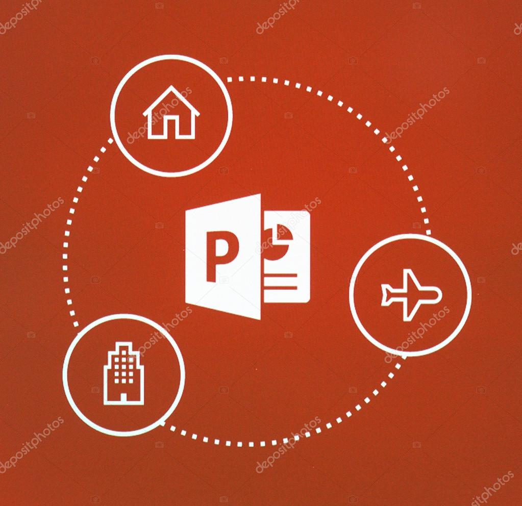Logotipo do Microsoft Office Powerpoint — Fotografia de Stock