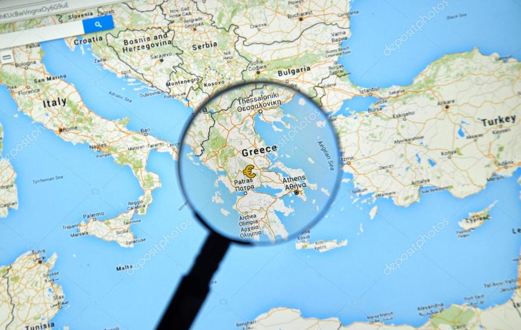 Greece On Google Maps Stock Editorial Photo C Dennizn 114938092