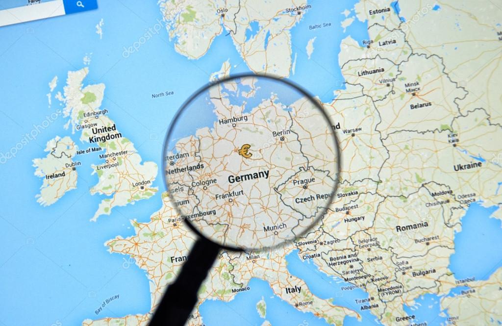 Map Of Germany Google Maps.Germany On Google Maps Stock Editorial Photo C Dennizn 114938358