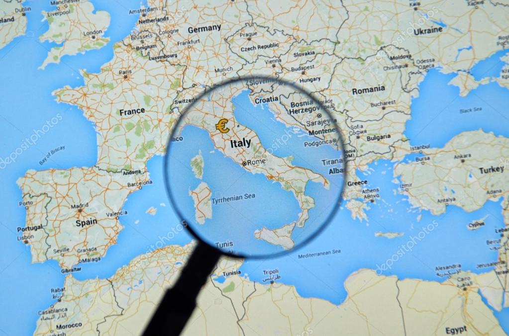 Italy On Google Maps Stock Editorial Photo C Dennizn 114938392