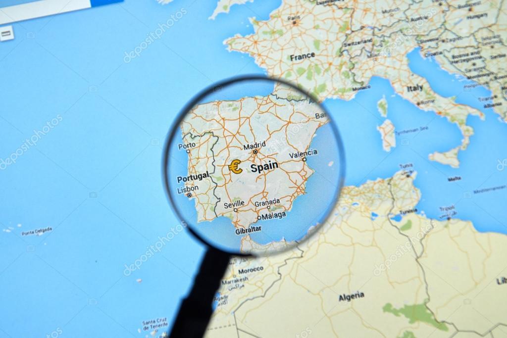 Spain On Google Maps Stock Editorial Photo C Dennizn 114938402