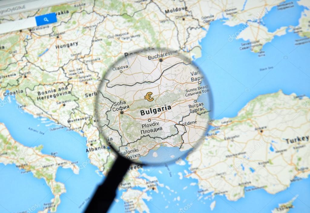 Bulgarien auf GoogleMaps — Redaktionelles Stockfoto © dennizn #115010492