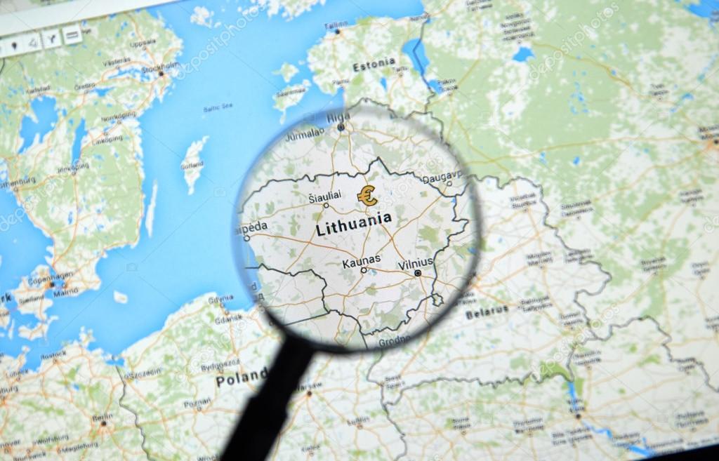 Lituania en google maps foto editorial de stock dennizn 115013370 lituania en google maps foto de stock montreal canad gumiabroncs Choice Image