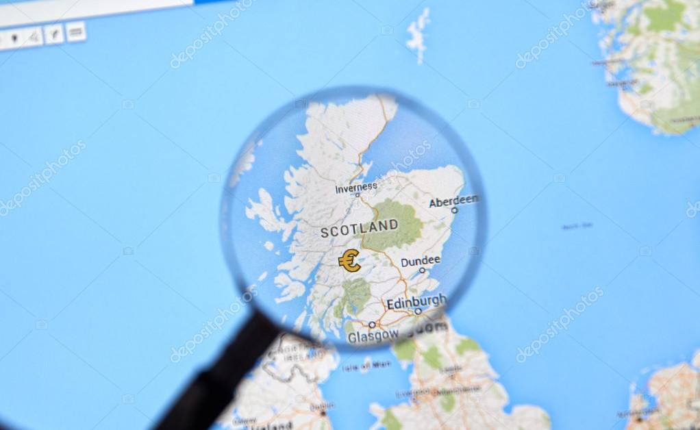 Scotland on Google Maps – Stock Editorial Photo © dennizn #115016638