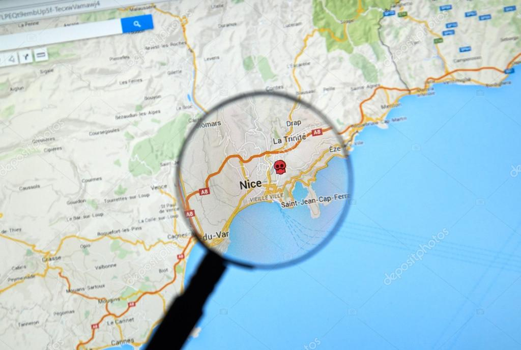 Map Of France Google Maps.Nice France On Google Maps Stock Editorial Photo C Dennizn