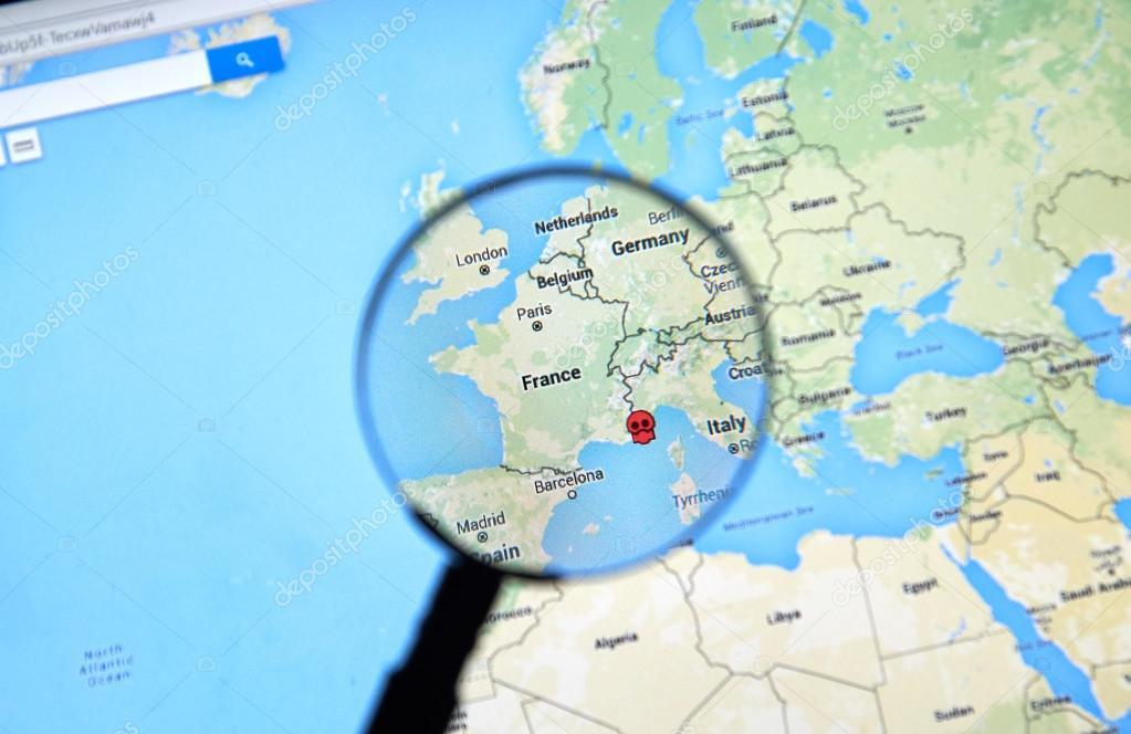 Nice, France on Google Maps – Stock Editorial Photo © dennizn #116663184