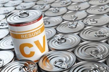 Cv curriculum vitae can.  Candidate job position. Conceptual ima