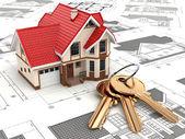dům na koncepty v různých výčnělků a klíče.