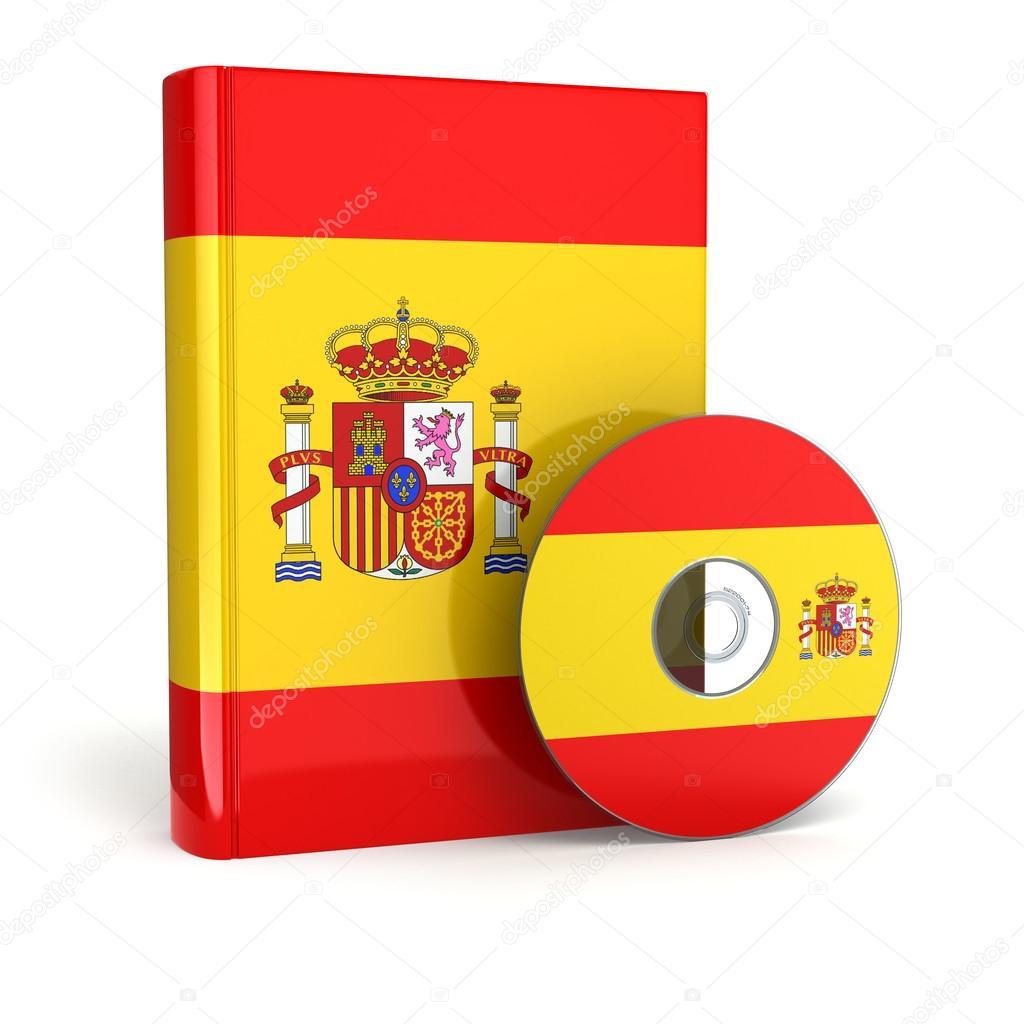 Livre Espagnol En Couverture Du Drapeau National Et Cd