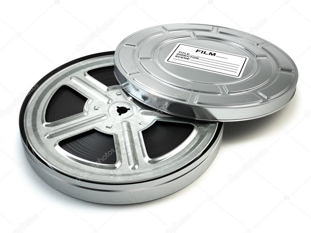 Rollo de película y cuadro. Video, película, concepto vintage cine ...