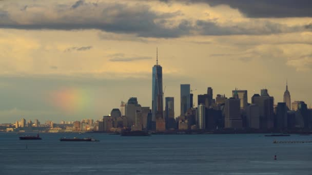 Manhattan skyline rainbow 4k