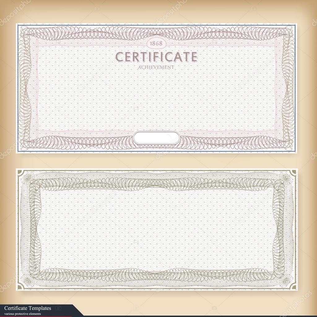 Vintage Certificate Template With Watermark