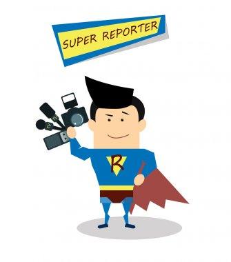 superman reporter in flat design