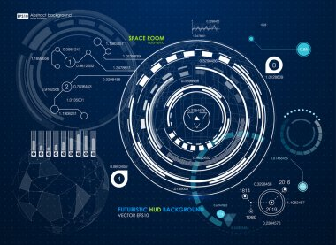 Infographic elements, futuristic user interface