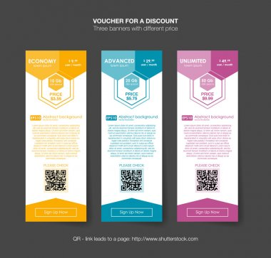 vouchers for discount banners