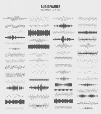 Audio equalizer technology set , pulse musical. Audio equalizer sound wave display horizontal. abstract isolated vector illustration stock vector