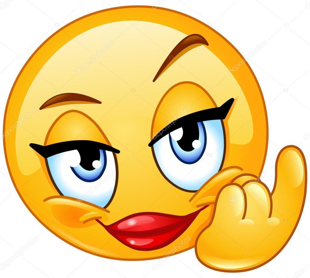 Smileys Depositphotos_105907194-stock-illustration-come-female-emoticon