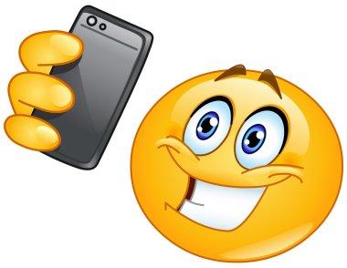 Vector selfie emoticon