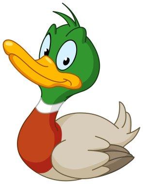 Vector smiling duck