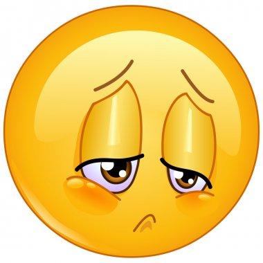 Vector sorrow emoticon