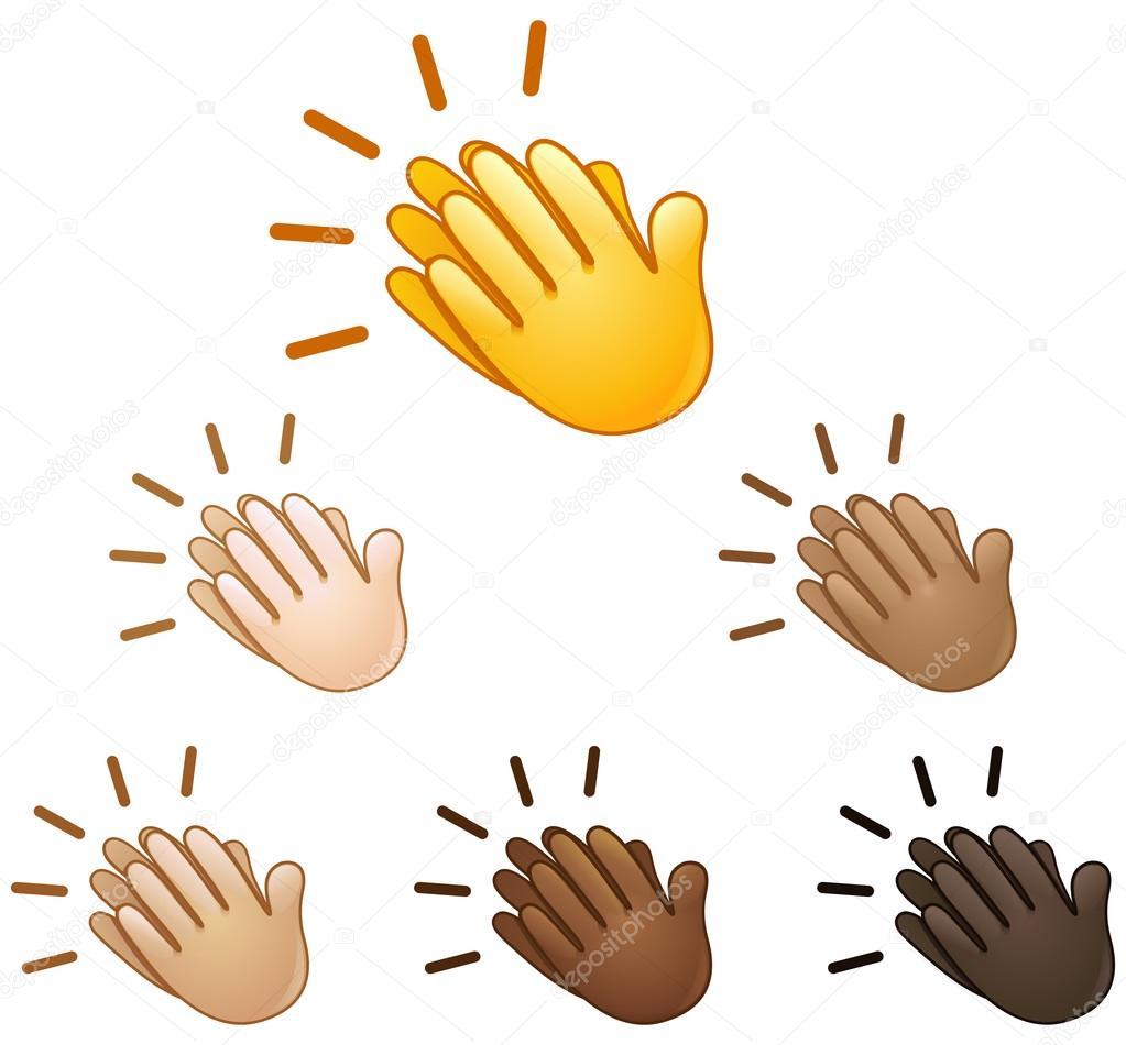 Clapping Hands Sign Emoji Stock Vector Yayayoyo 119436326