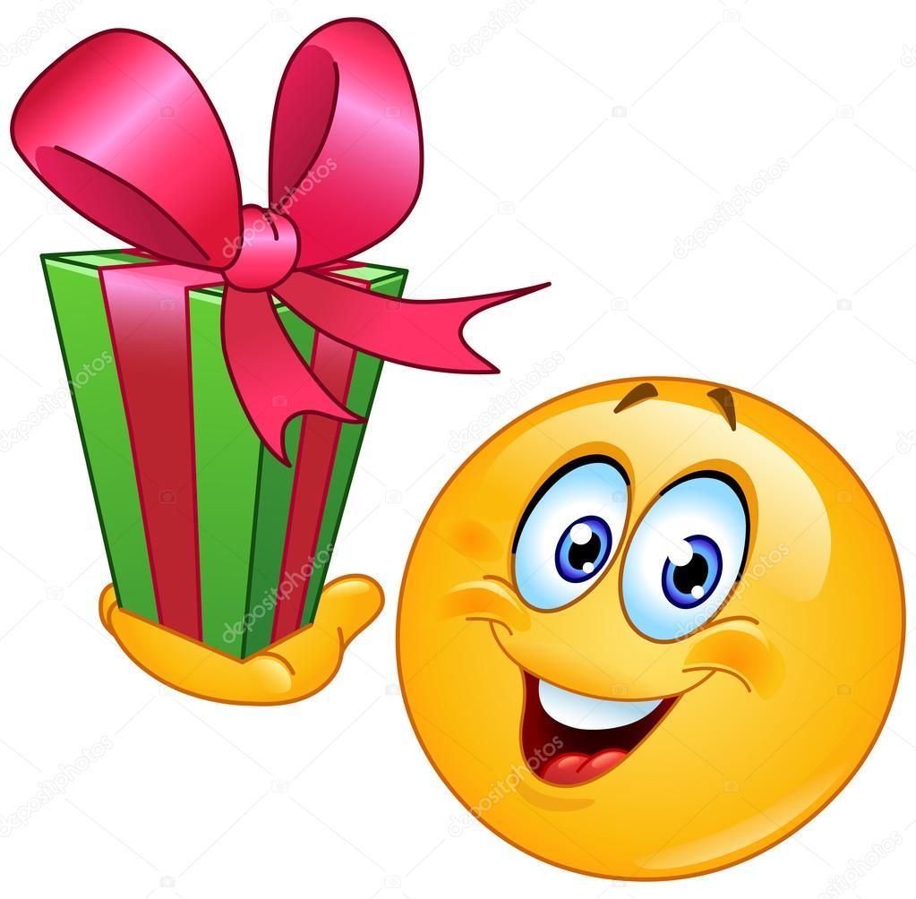 smajlíci k narozeninám smajlík s dárkem — Stock Vektor © yayayoyo #52511167 smajlíci k narozeninám