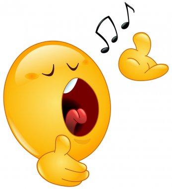 Singing emoticon