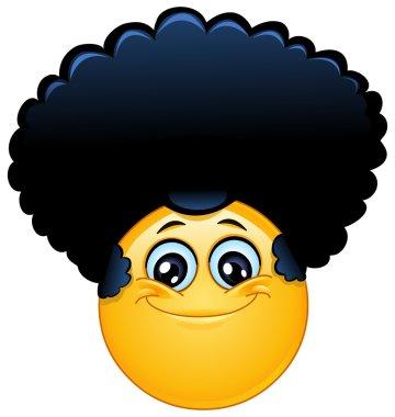 Afro emoticon