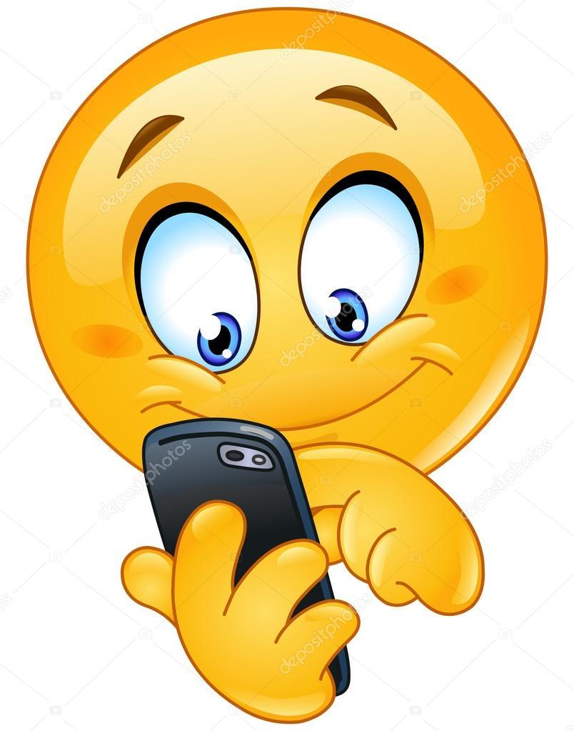 """Résultat de recherche d'images pour """"émoticone au téléphone"""""""