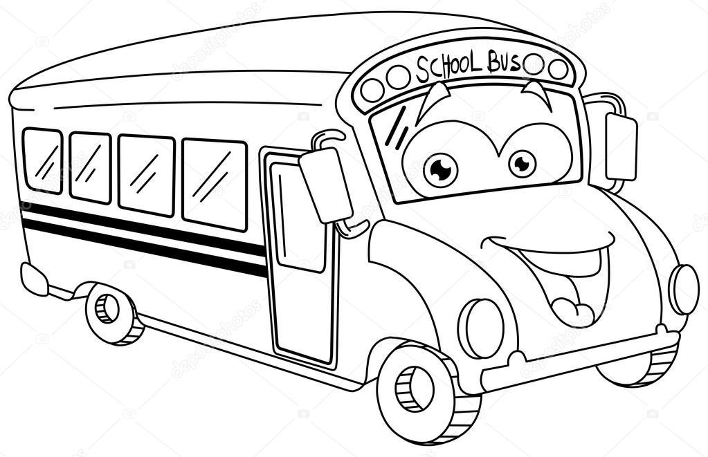 Imágenes: buses para dibujar | Esbozado el autobús escolar de ...