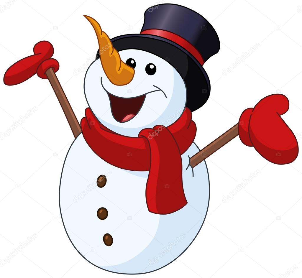 Anheben der Arme Schneemann — Stockvektor © yayayoyo #86839374