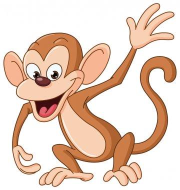 Vector monkey waving