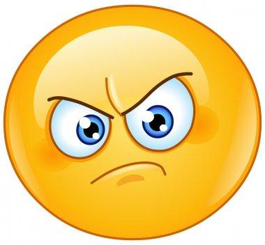 Vector annoyed emoticon
