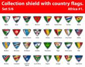 Fotografie Collection shield with country flags. Part 5 of 6