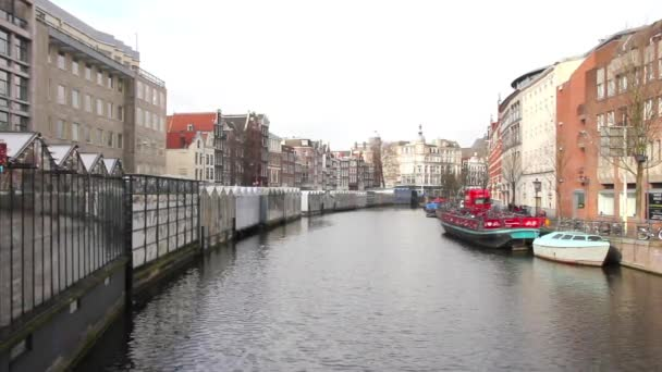 Amsterdam canal and flower market
