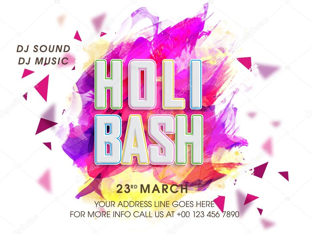 Invitation Card design for Holi celebration. — Stock Photo ...