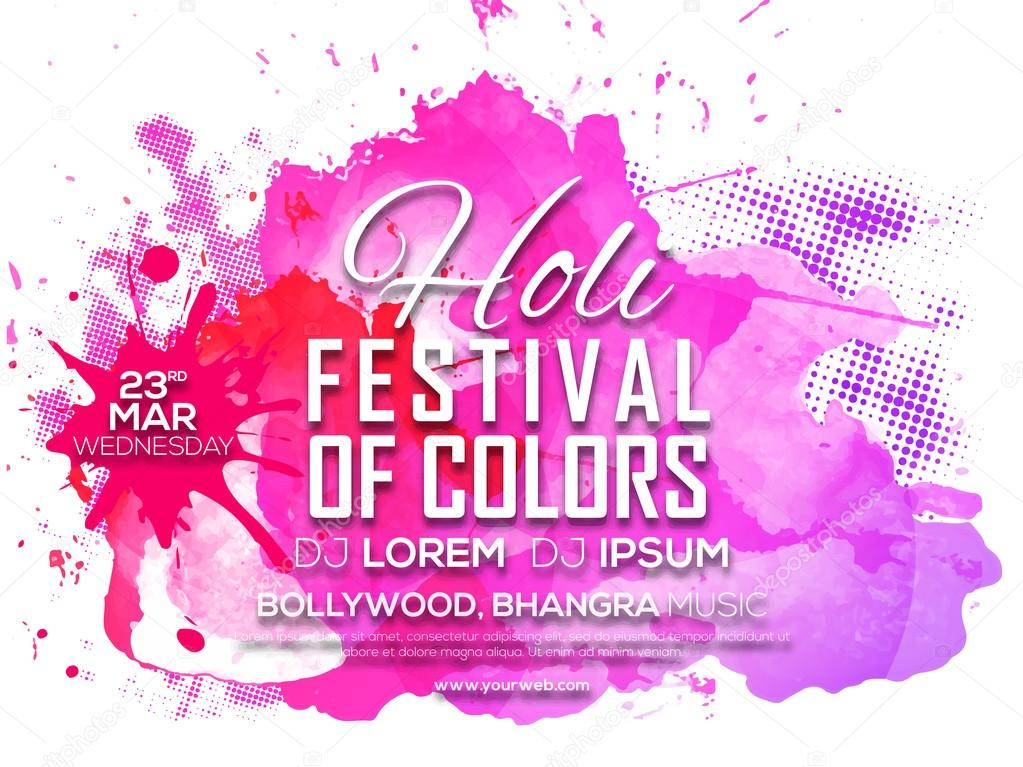Invitation card design for holi celebration stock photo invitation card design for holi celebration fotografia de stock stopboris Choice Image