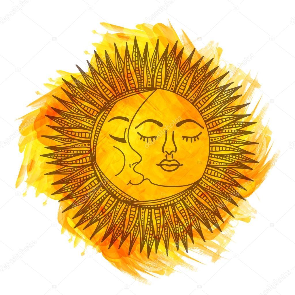 boho style sun and moon ストックベクター alliesinteract 105716378