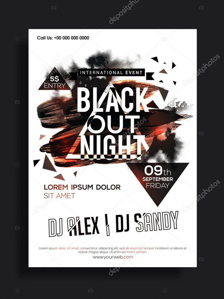 music party flyer template or banner design stock vector