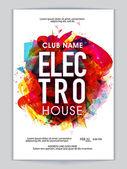 Hudební Party Flyer, šablonu nebo Banner design