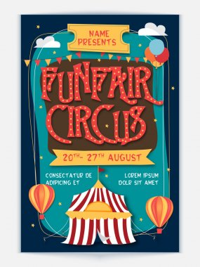 Funfair Circus Template, Banner or Flyer design.