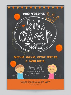 Kids Camp Template, Banner or Flyer design.