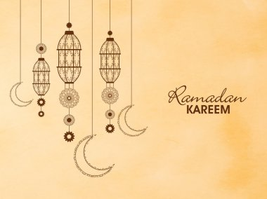 Floral lanterns for Ramadan Kareem.