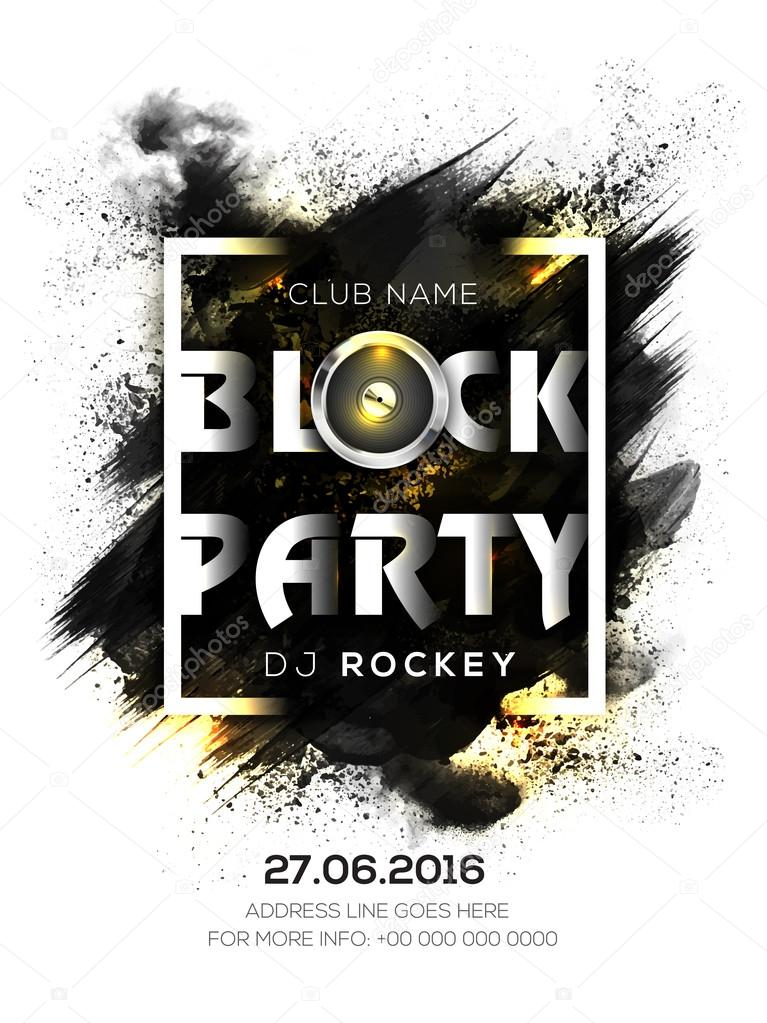 music party flyer template or banner stock vector