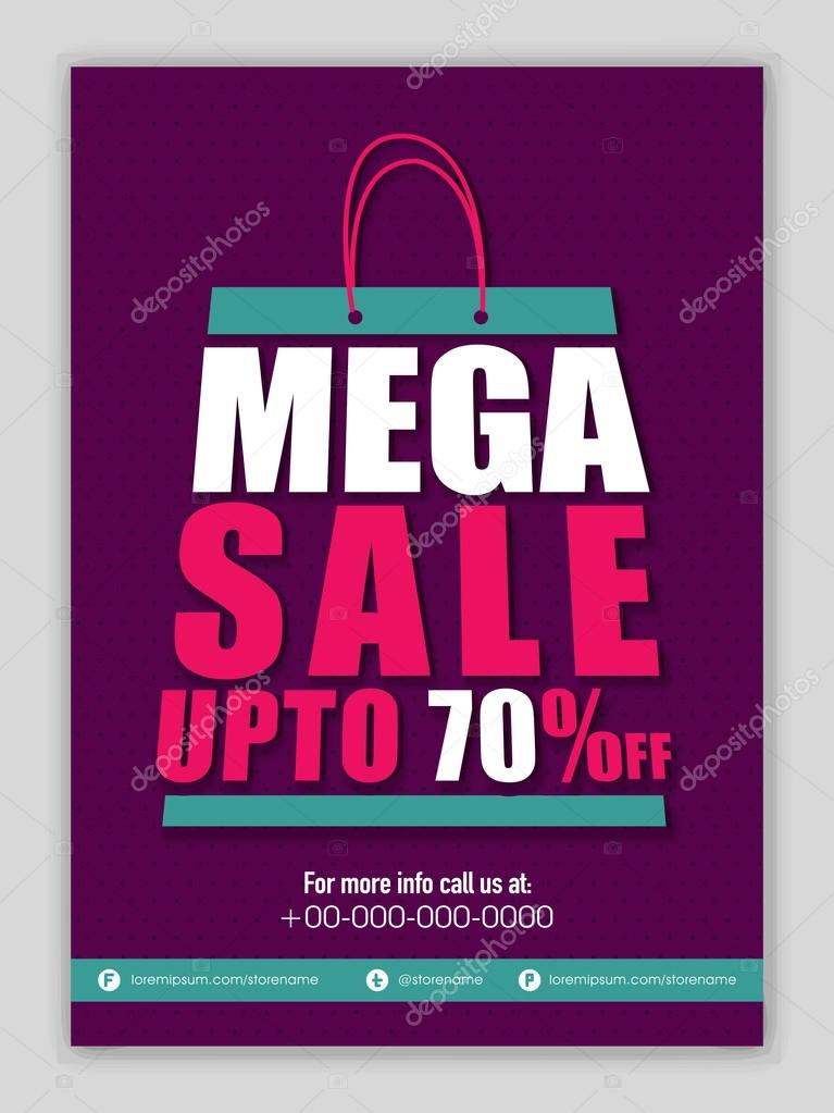 mega sale banner poster or flyer design ストックベクター