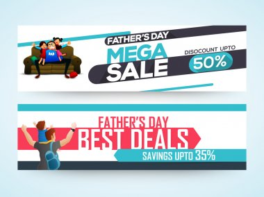 Sale website header or banner for Father's Day.
