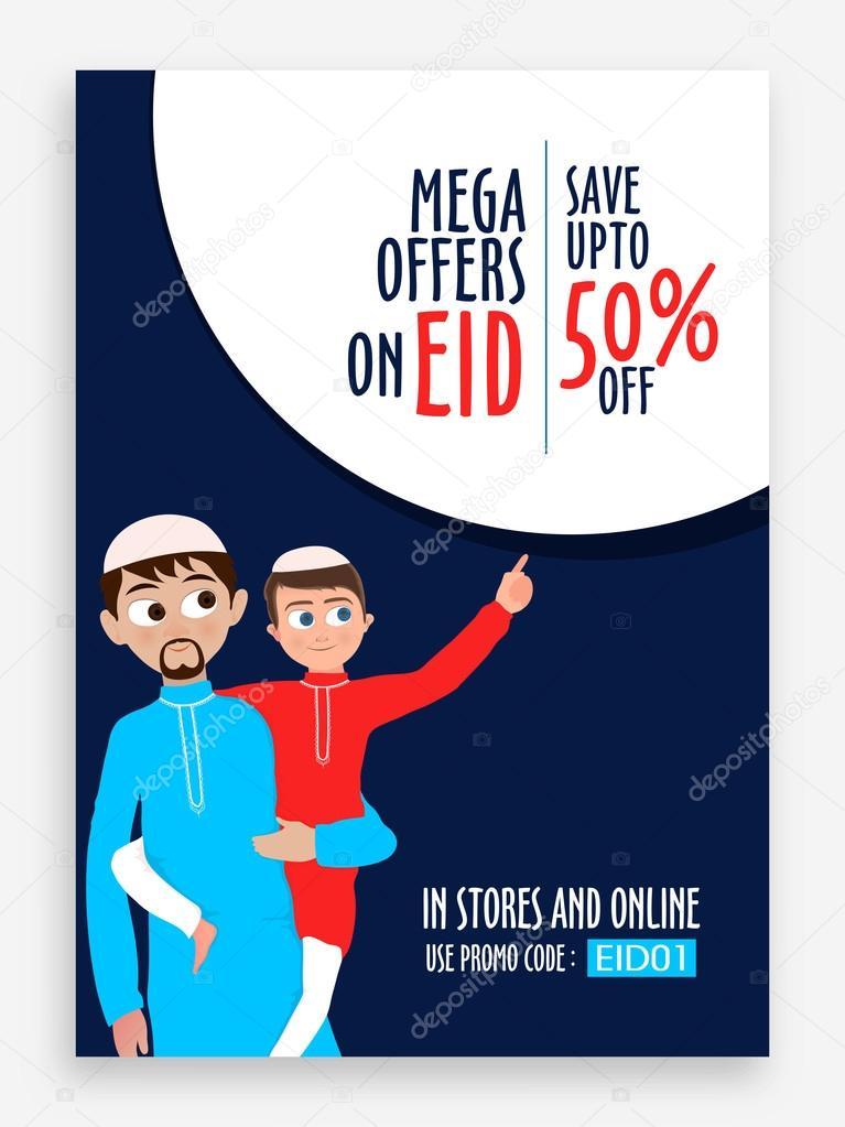 2d61ff94fa Eid Sale Pamphlet, Banner or Flyer design. — Stock Vector ...
